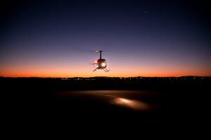 Night Photo of Brisbane Helicopter