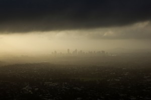 Brisbane on the dawn of the floods