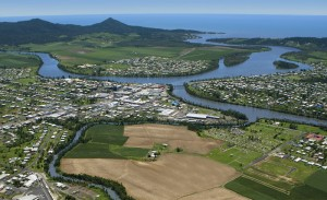 Innisfail is between Cairns & Townsville in North Queensland NQ