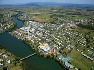 Aerial Photo of Innisfail located between Cairns and Townsville